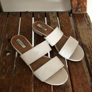 Halogen | white flat sandals